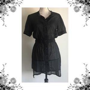 {Da-Nang} NWOT Sheer Button Down Shirttail Top